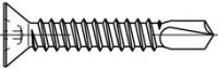 Šroub samovývrtný se zápustnou hlavou pro plastová okna ART 06504 ocel 3.9 x 13 gal. Zn pasiv.