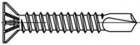 Šroub samovývrtný se zápustnou rýhovanou hlavou pro plastová okna ART 06578 ocel 3.9 x 25 gal. Zn žlutý