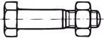 Šroub se šestihrannou hlavou lícovaný pro ocelové konstrukce DIN 7968 ocel 5.6 M 12 x 40 gal. Zn s maticí