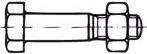 Šroub se šestihrannou hlavou lícovaný pro ocelové konstrukce DIN 7968 ocel 5.6 M 12 x 50 s maticí